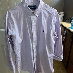 Men's long sleeve button down polo